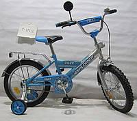 Детский велосипед 16 дюймов EXPLORER T-21612 blue/silver