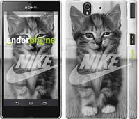 "Чехол на Sony Xperia Z C6602 Спортивный котик ""2715c-40"""