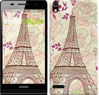 """Чехол на Huawei Ascend P6 Романтика Парижа """"2064c-39"""""""