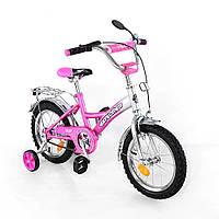 Детский велосипед 14 дюймов EXPLORER T-21411 pink/silver