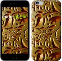 """Чехол на iPhone 6 Plus Золотой металлический узор """"746c-48"""""""