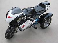 Детский спортивный мотоцикл  бензиновый HL-G69E (49сс)Трайк черный***