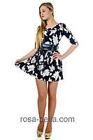 Приталенное платье с поясом, фото 1