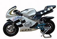 Детский спортивный мотоцикл на  резиновых колесах HL-E 29: 24V, 35 км/ч. синий***