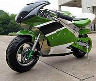 Детский спортивный мотоцикл на  резиновых колесах HL-E 29:500W 36V зеленый***