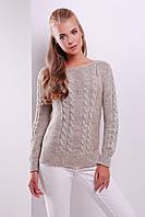 Стильный женский вязаный свитер