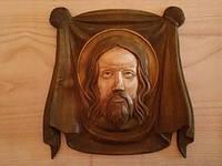Икона,резная из дерева.Спас Нерукотворный.