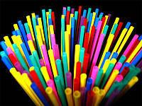 Трубочки для коктейлей разноцветные без гофры