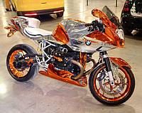 """Тюнинг мотоцикла """"цветное хромирование"""""""
