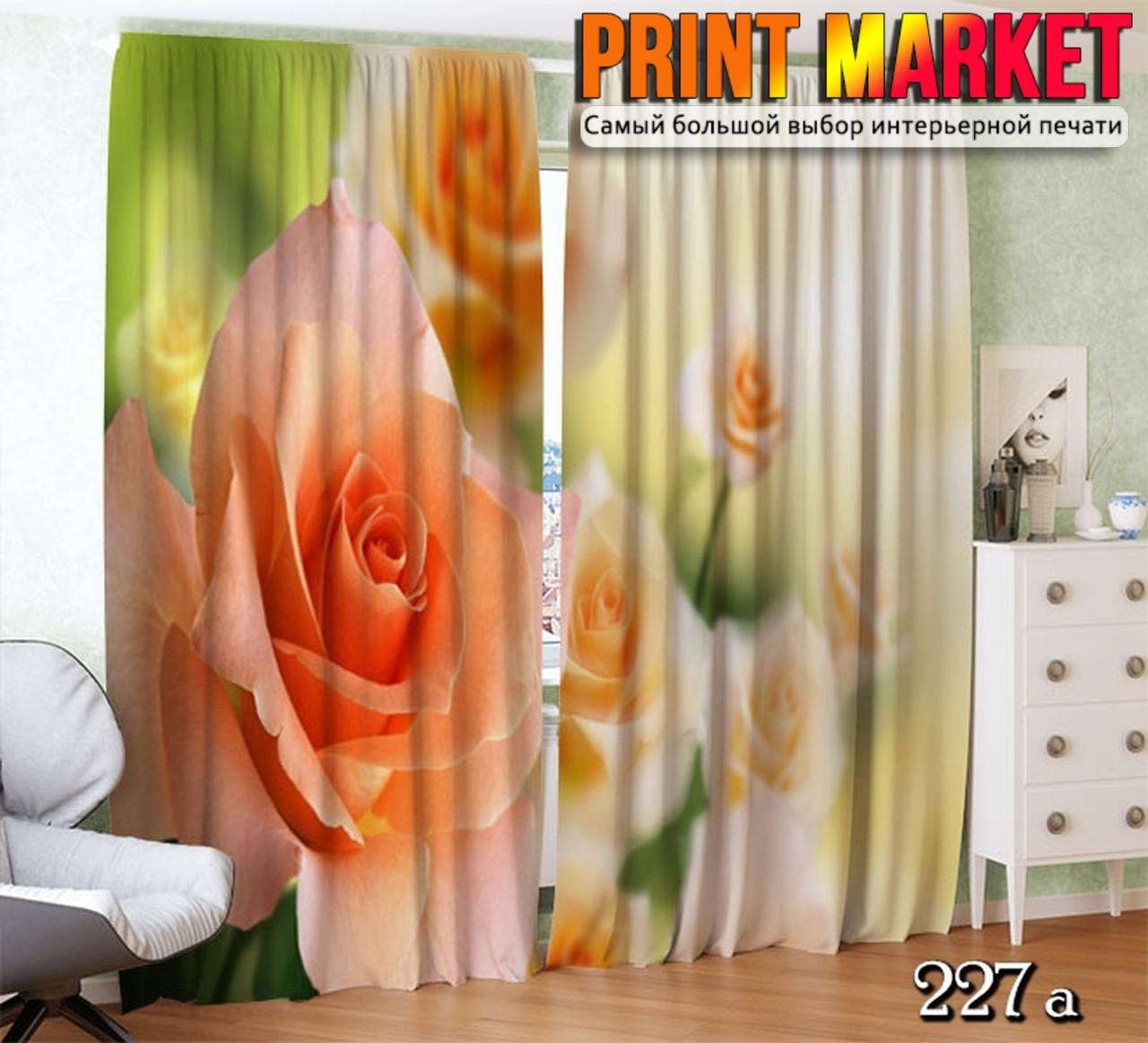 Фото шторы нежные розы