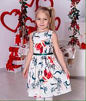 Нарядное детское платье Сакура TM Brendinno, 5 размеров