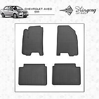 Коврики резиновые Chevrolet Aveo 2004- Stingray (2шт) 1002012