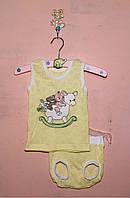 Летний детский костюм для девочки 56-74