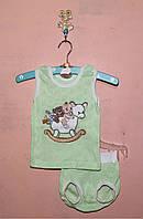 Летний детский костюм для мальчика 56-74