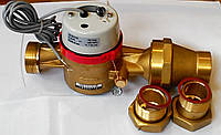 Водосчетчики Apator Powogaz JS-130-6-NK ГВ (ДУ-32) горячей воды с импульсным выходом одноструйные домовые