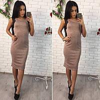 Платье красивое с кружевом без рукавов миди 2 цвета SMol1208