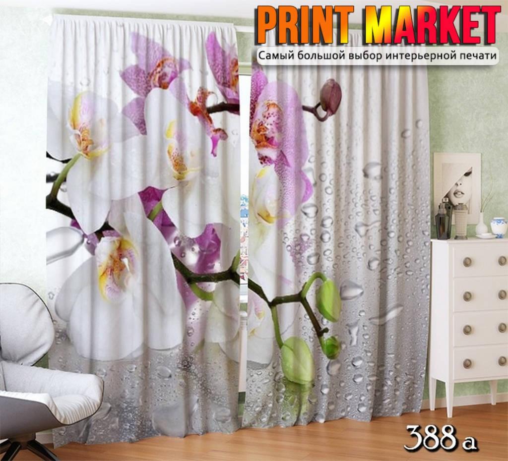 Фото шторы орхидея