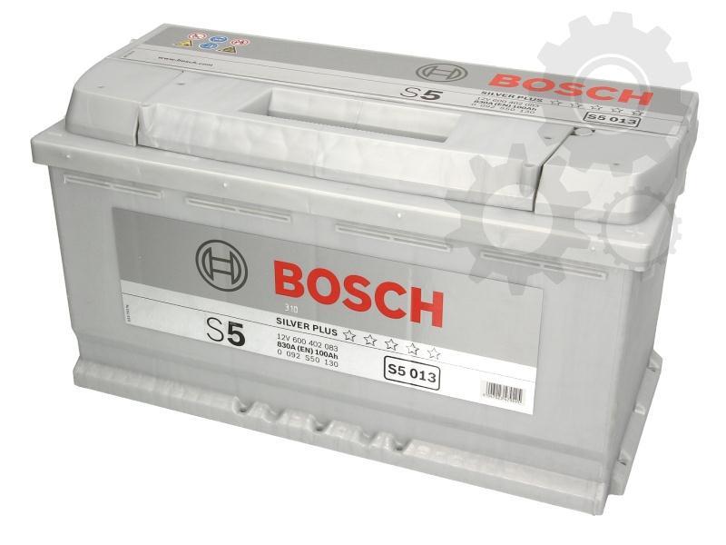 "Аккумуляторная батарея ""S5 Silver Plus"" 100Ah/830A Bosch"
