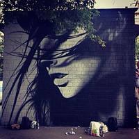 Рисунок на стене, граффити, художественное оформление