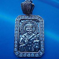 Серебряная подвеска-ладанка Николай Чудотворец, фото 2