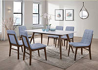 Комплект обеденный Леон из массива (стол + 6 стульев)