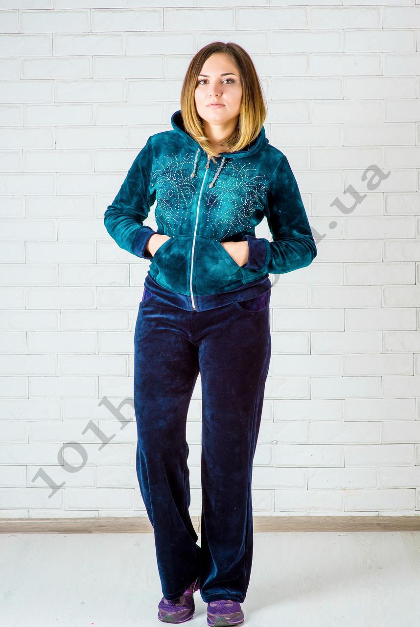 Велюровый спортивный костюм  женский 46 размер, фото 1