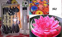 Набор насадок + шприц для создания ЗД цветов в желе, №2
