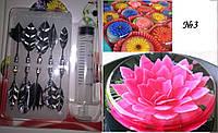 Набор насадок + шприц для создания ЗД цветов в желе, №3