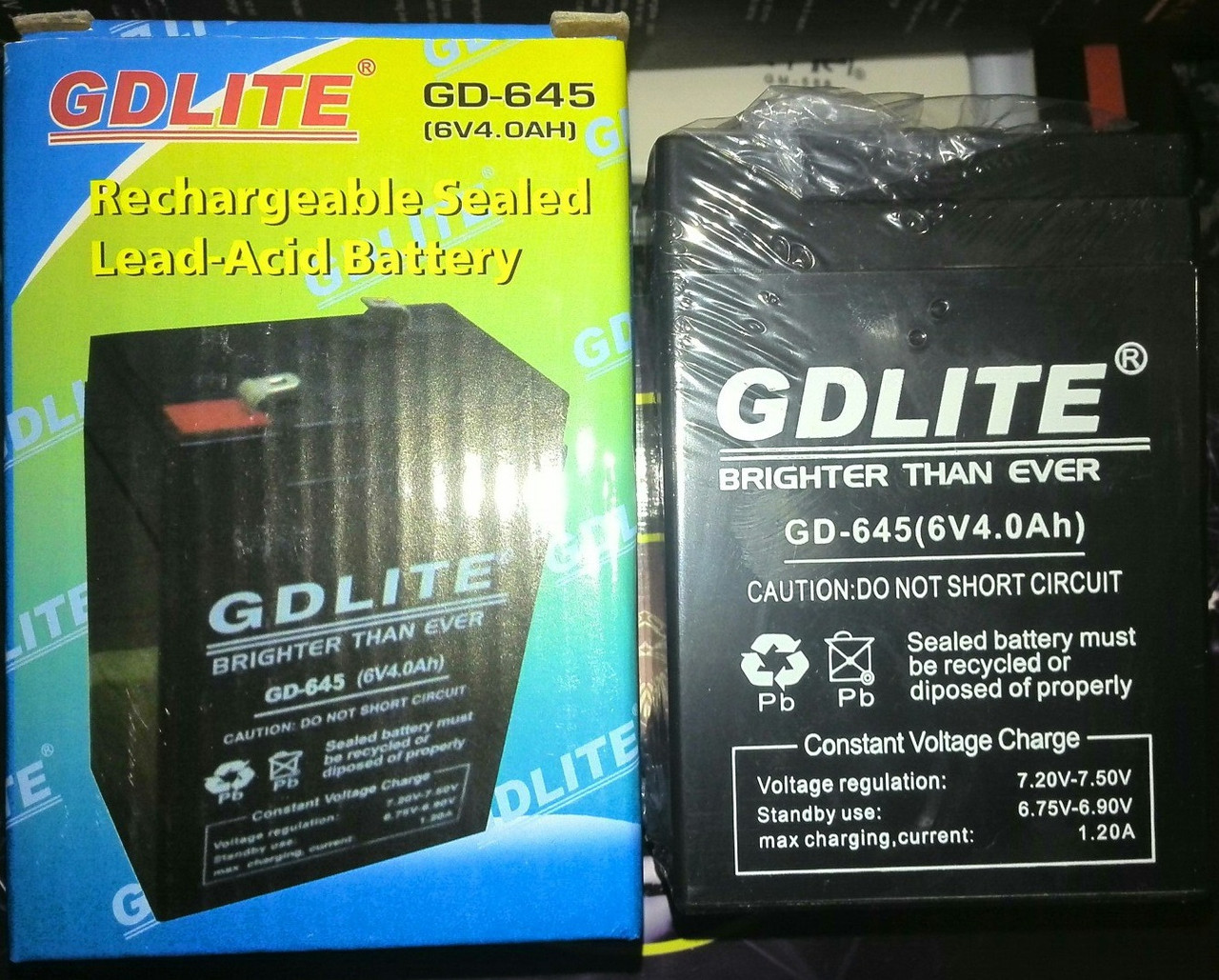 Аккумулятор GDLITE GD-645 (6V 4.0Ah)