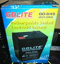 Аккумулятор GDLITE GD-645 (6V 4.0Ah), фото 2