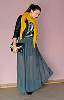 Шифоновая длинная юбка в пол
