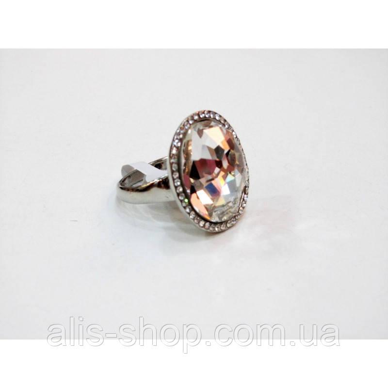 9cac73938071 Эксклюзивное нарядное кольцо с крупным камнем в миниатюрных стразах для ...