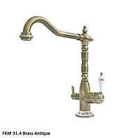 Смеситель для кухни Fabiano FKM 31.4 Brass Antique