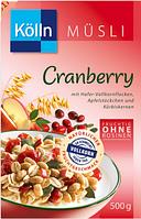 Kölln Müsli Cranberry - Мюсли с Клюквой, 500 г