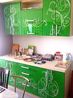 Кухня зеленая лакобель