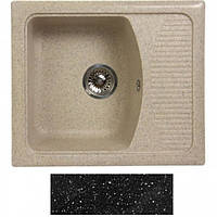 Мойка гранитная Fosto 58x50 покрытие 420 черный