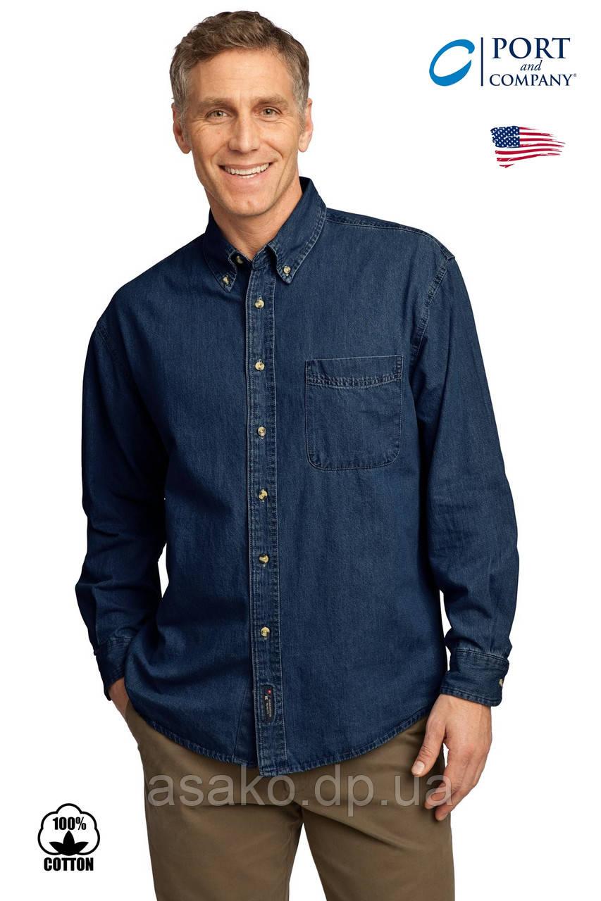 4d4aafa60df Мужская джинсовая рубашка PORT   Cо®(США) (M) 100% хлопок Оригинал ...