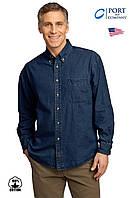 Мужская джинсовая рубашка PORT & Cо®(США)//100% хлопок/Оригинал