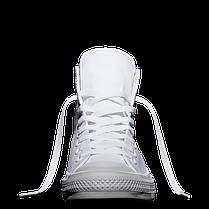 Кеды Converse All Star II Chuck Tailor Lunarlon высокие белые топ реплика, фото 3