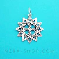 Звезда Эрцгаммы серебряный оберег с камнем
