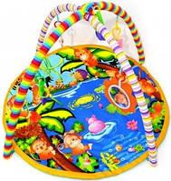 Детский коврик с погремушками 666-8В