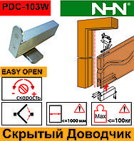 Доводчик скрытый для маятниковых дверей  (Япония)