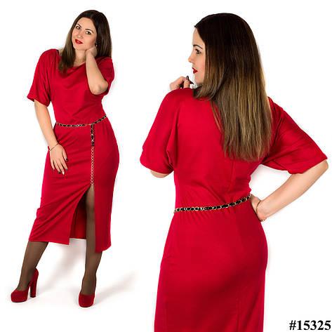 Красное платье 15325, большого размера, фото 2