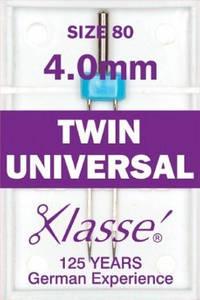Иглы для бытовых швейных машин двойные универсальные №80/12-4мм