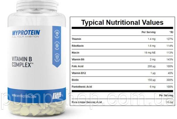 Вітаміни групи B Myprotein Vitamin B Complex 120 кап., фото 2