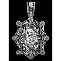 Образок серебряный Икона Божией Матери. Неопалимая Купина