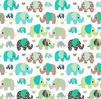 Слоники коричневые мятные , фото 1