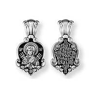 Образок серебряный Богородица Семистрельная