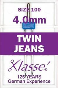 Иглы для бытовых швейных машин для джинсовых тканей двойные № 100/16 - 4мм