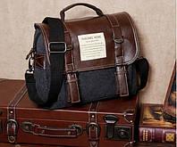 Чоловіча сумка-рюкзак. Чорна.